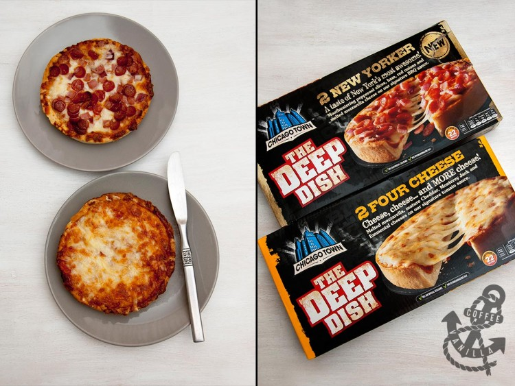 Chicago Town pizza varieties deep dish takeaway
