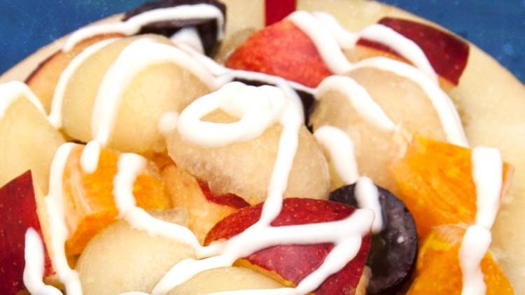 Marissa's Melon Bowl Fruit Salad in Yogurt Dressing – Kids' Cooking