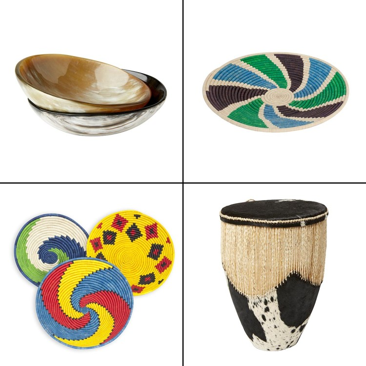 Uganda baskets and horn home-ware items on sale in HomeSense and TK Maxx