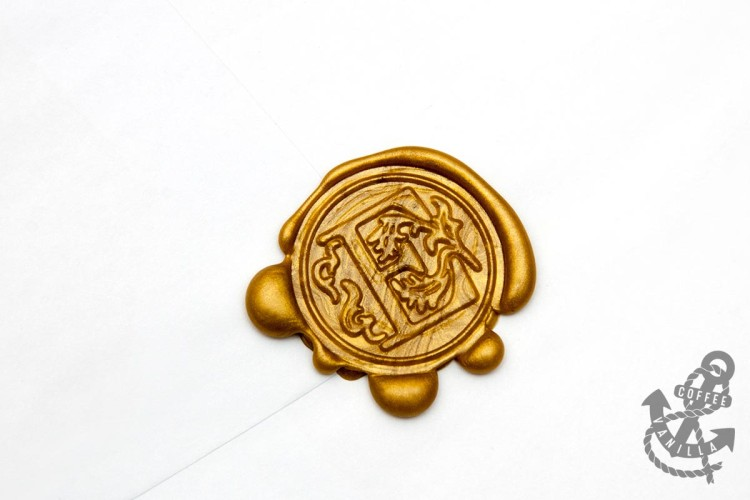 wax sealed vintage style snail mail letter