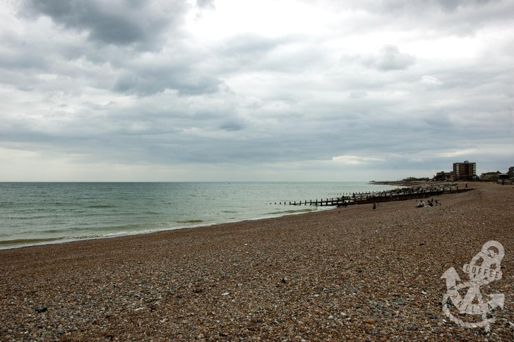 Lancing beach in the evening
