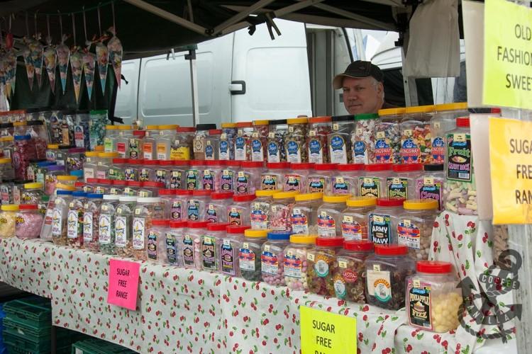 Lancing market old fashioned retro sweets gluten-free sugar-free vegetarian