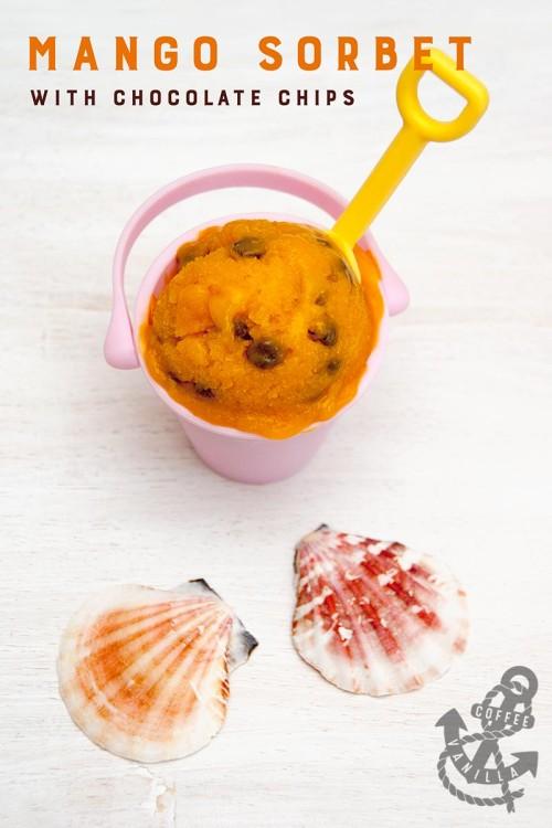mango sorbet without ice cream maker