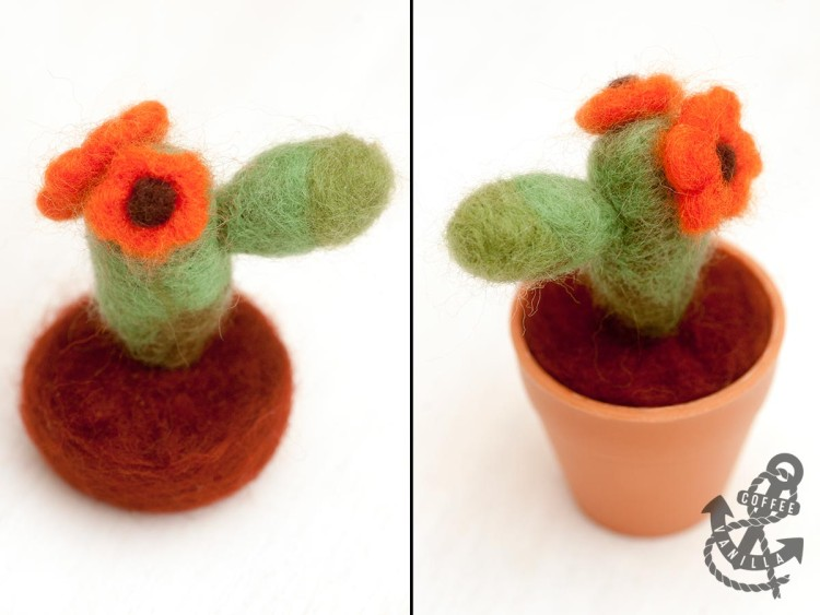 how to make needle felted plants