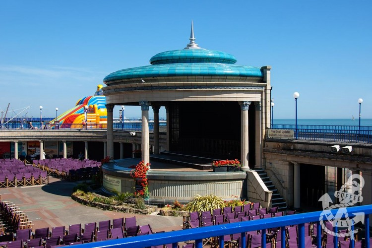 Eastbourne seafront with band stand