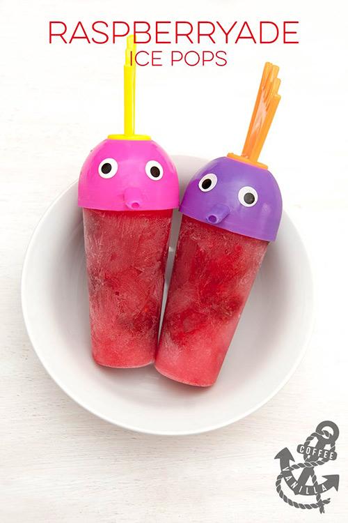 raspberry ice lollies