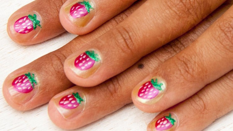Reminder of Summer – DIY Strawberry Nail Art for Kids