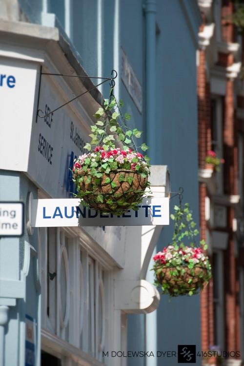 Launderette laundry flowers