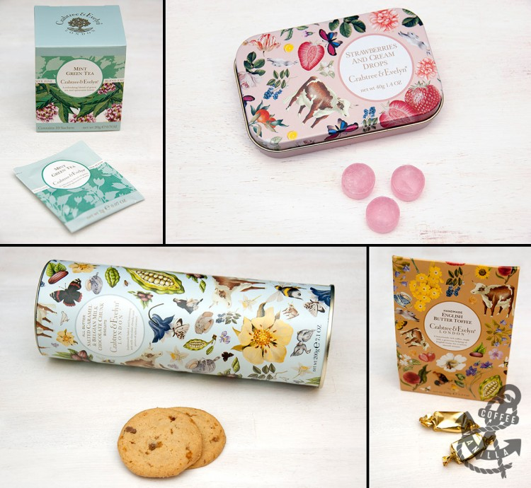 Crabtree & Evelyn LONDON cosmetics food range biscuits tea