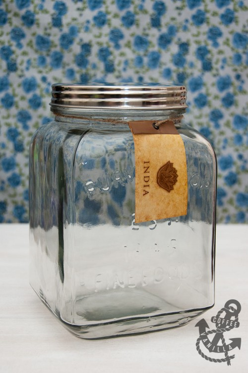 large jar made in India old style retro glass jar