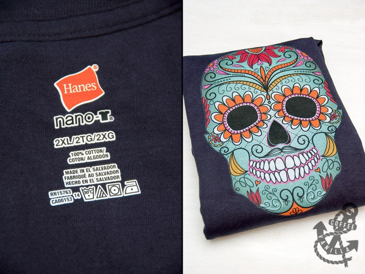 day of the dead Halloween t-shirts
