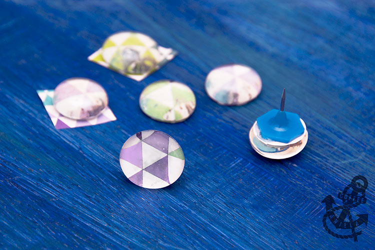 how to make glass push pins