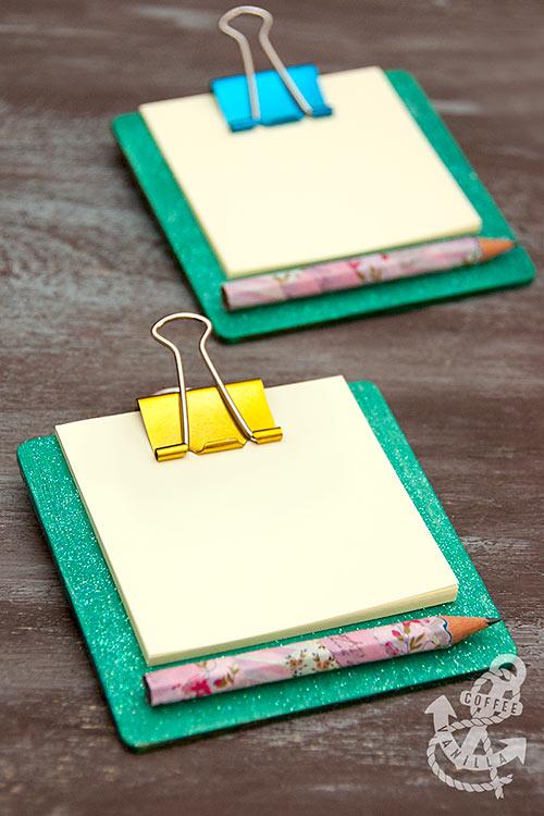 mini clipboards DIY craft for kids