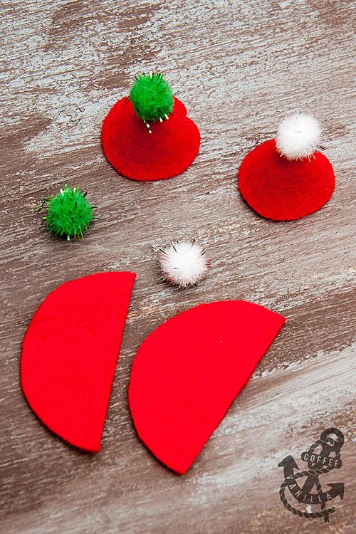 how to make miniature santa hats