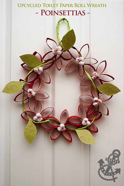 toilet paper wreath craft