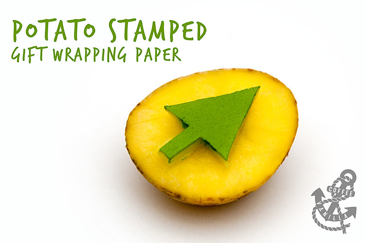 potato stamp wrapping paper