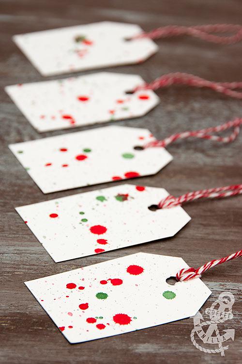 handmade gift tag ideas watercolour splashes