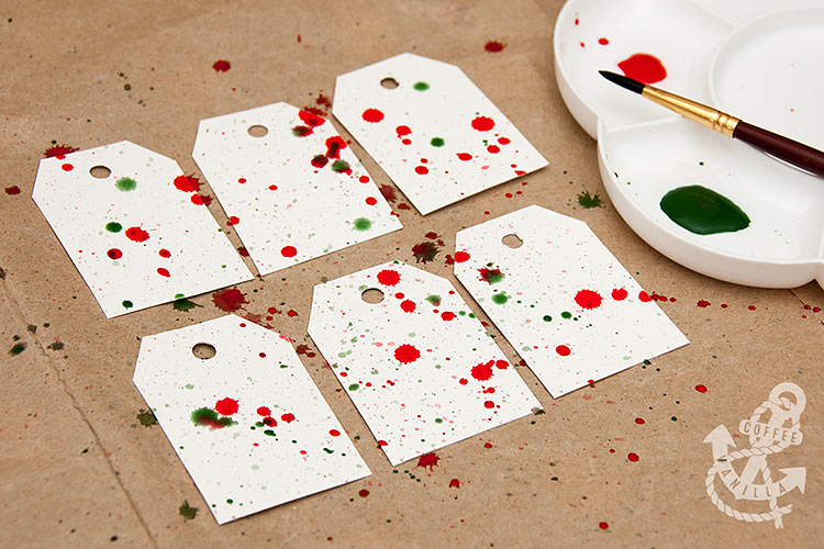handmade gift tags watercolor splashes