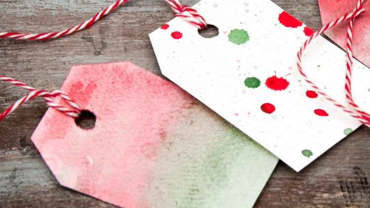 DIY Watercolour Gift Tags & Wrapping Paper
