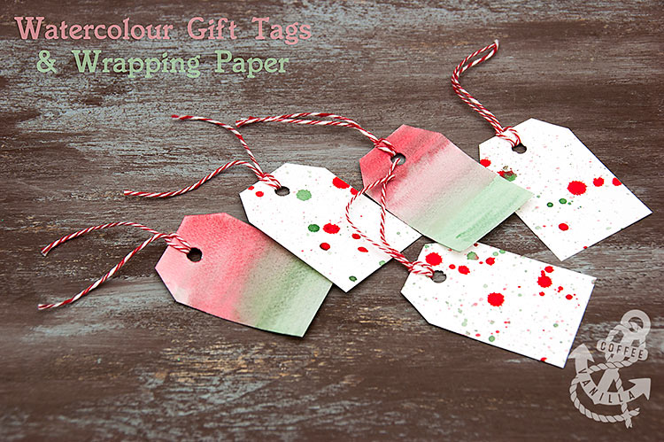 watercolour gift wrapping ideas