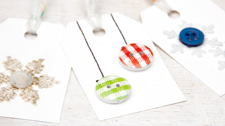 Handmade Gift Tags with Buttons