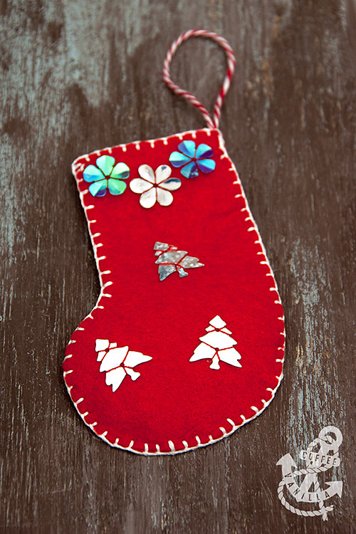 how to make felt christmas decorations