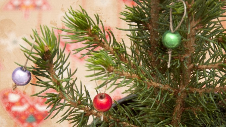 Baby Christmas Tree with Miniature Baubles