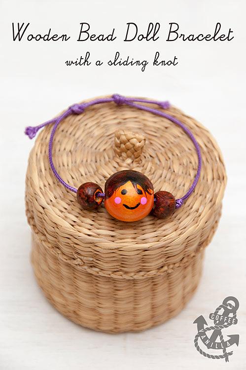 wooden bead dolly bracelet