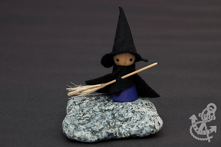 wooden peg witch