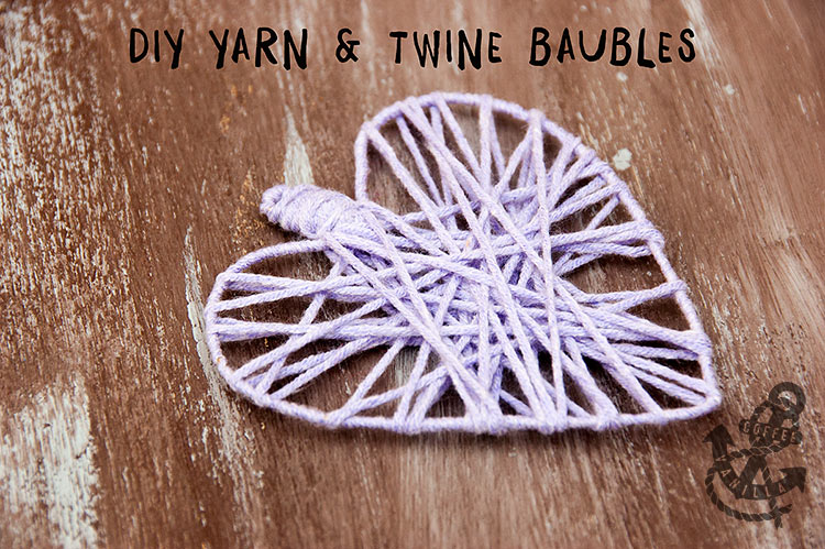 yarn balloon ornaments