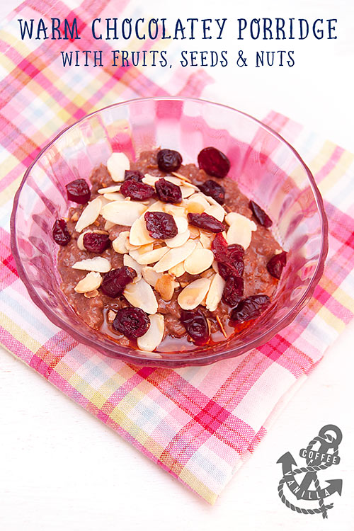 chocolate porridge recipe easy healthy breakfast recipe