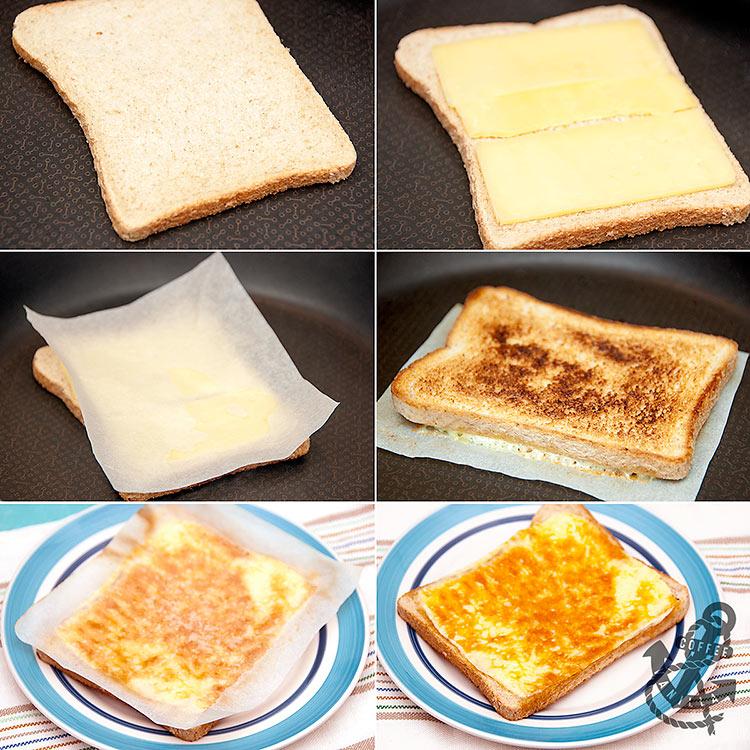frying pan toasties recipe