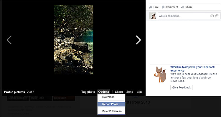 how to report stolen photo