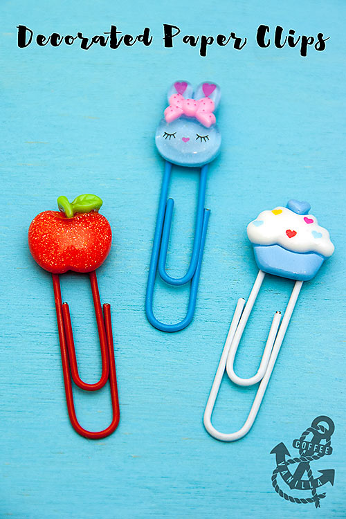 decorated paper clips diy ideas