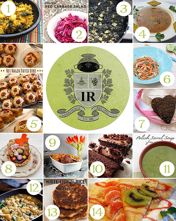 Inheritance Recipes round-up international traditional recipes link-up