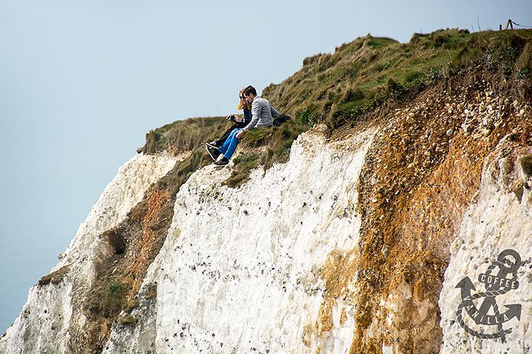 dangerous Beachy Head erosing cliff edge
