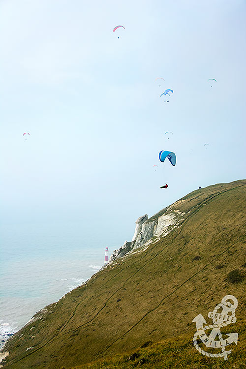paragliding in UK Sussex East Sussex England