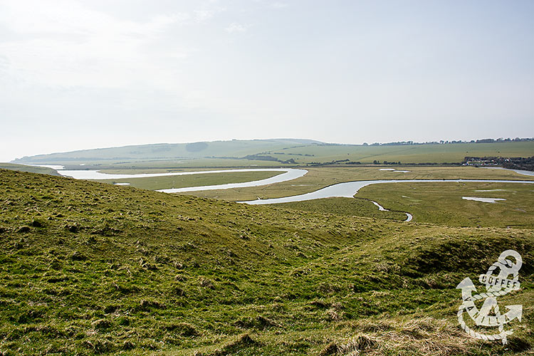 swirtly Cuckmere River near Seven Sisters