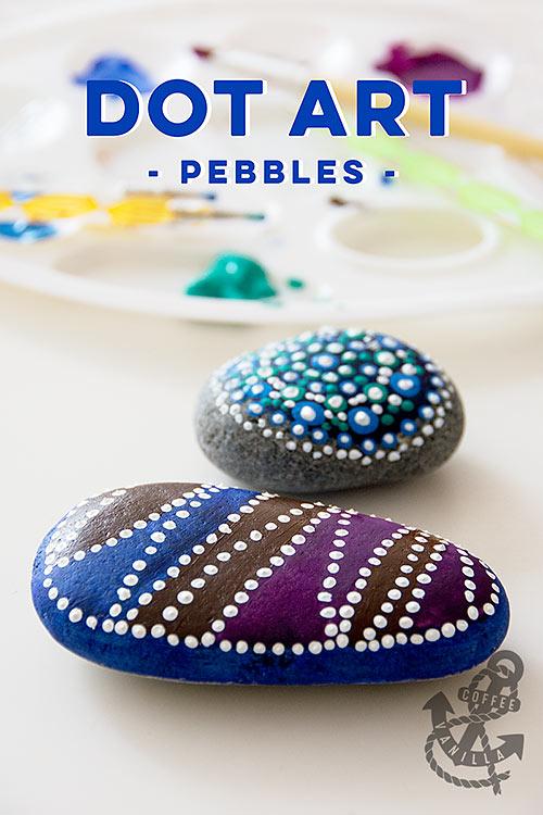 dot art painted pebbles tutorial