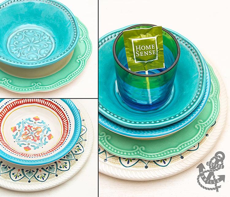 melamine plates bowls for picnic garden parties eating al fresco from HomeSense TK Maxx UK