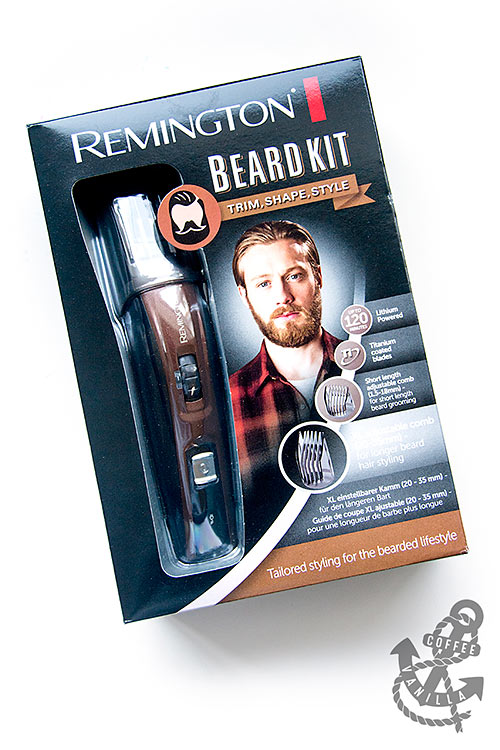 complete beard kit with shaver, trimmer, scissors, brush