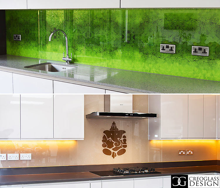 glass backsplash ideas for kitchens