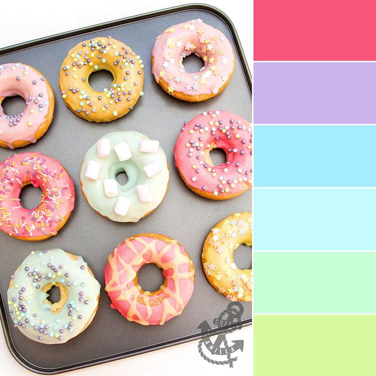 pastel colour palettes for kids girls room