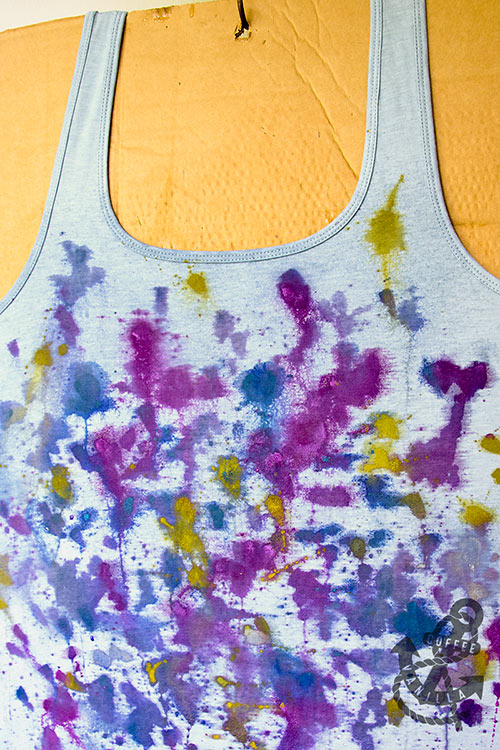 how to make watercolour tshirt
