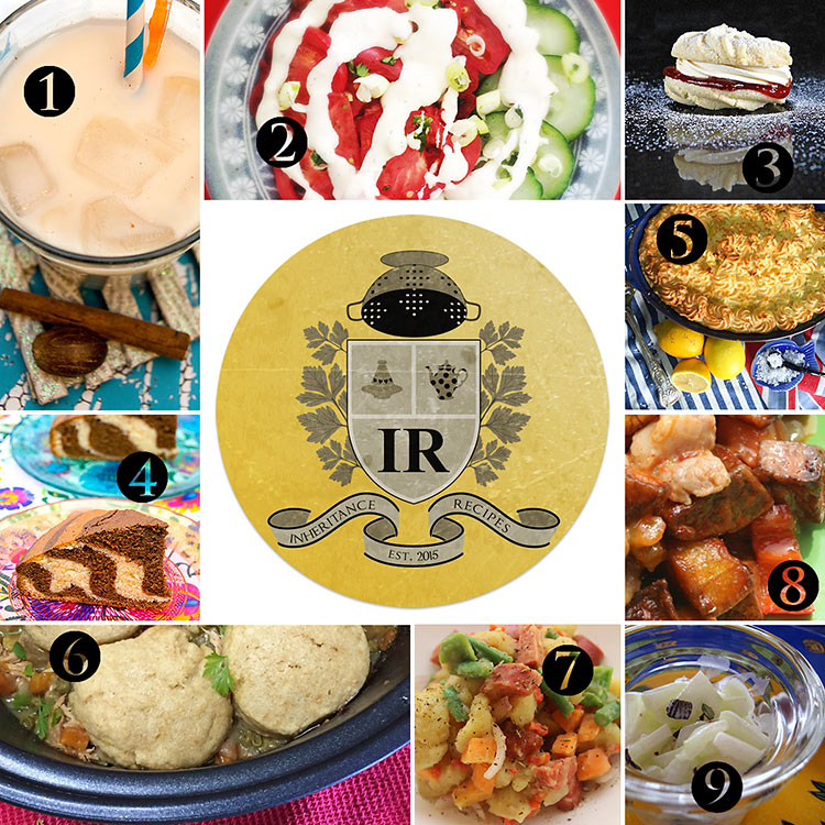collection of family recipes from all over the world