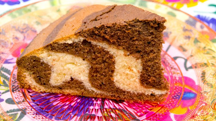 Kids' Favourite Zebra Cake aka Tiger Cake or Marble Cake