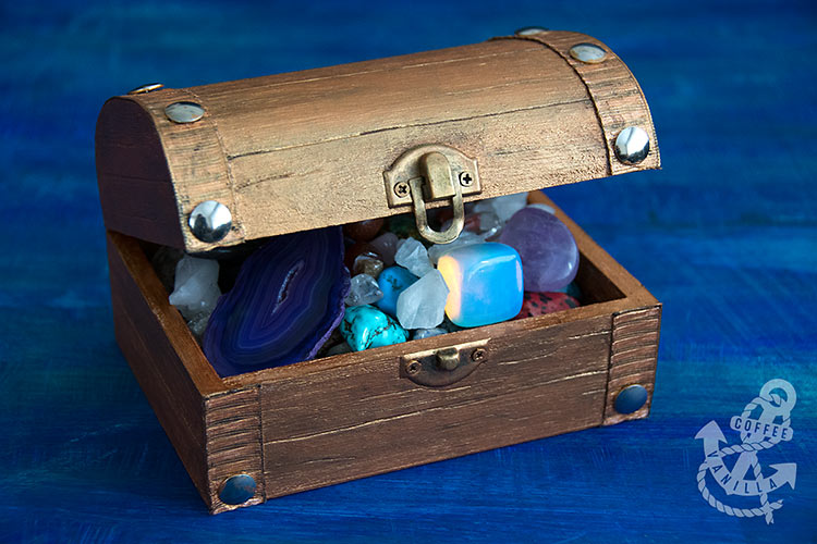 chest with gemstones pirate treasure chest