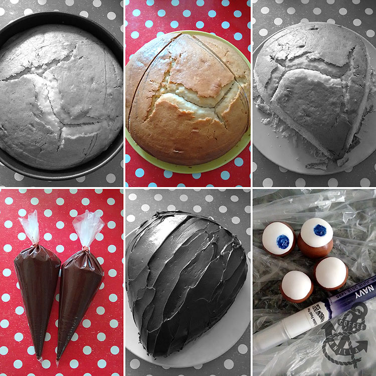 how to make spiky hedgehog cake