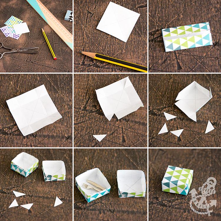mini paper boxes tutorial