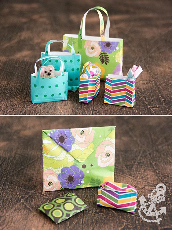 miniature shopping bags tutorial